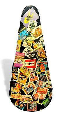 pouch bag for guitar vintage with stickers of films 60's movie's stickers
