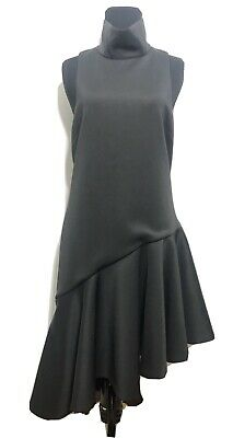 c/meo collective size small black sleeveless dress with ruffle detail