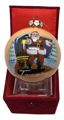 Texas Longhorns Christmas Ornament (Large Texas Longhorns Christmas Ornament w/ Red Velvet Box 4 1/4