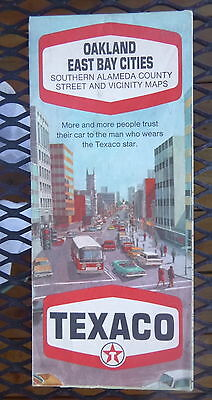 1969 Oakland East Bay Cities street Texaco oil gas  California  (Bay Street Oakland)