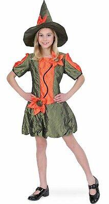 Kinder Kostüm Waldfee mit Hut Blumenfee Hexe Mädchen - Blumen Mädchen Kostüm Halloween