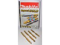 B-45129 B-45135 B-45141 B-45191 MAKITA Impact Gold Torsion 4 Piece PH Bit Set