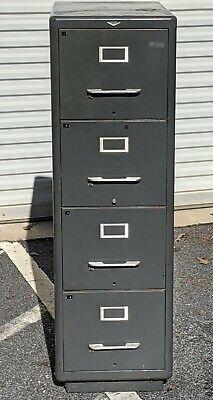 Cole Steel Industrial Era File Cabinet Unique