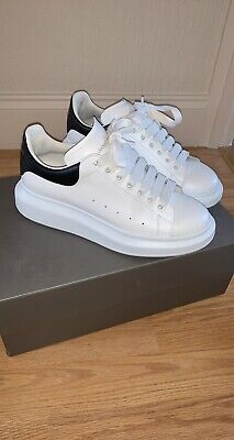 ALEXANDER MCQUEEN TRAINERS SIZE EU 40 UK 6 WHITE AUTHENTIC REAL