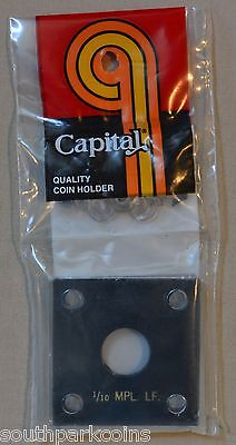 2x2 Capital Plastic 1/10th oz. Maple Leaf Holder - Black (Over 25% off)