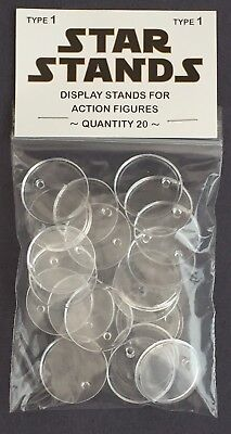 Pack of 20 Star Wars Vintage Action Figure Display Stands Palitoy Kenner 1977
