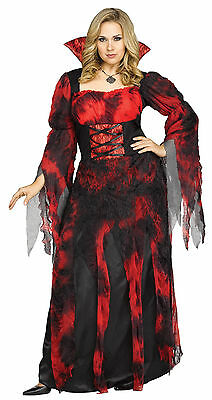 Adult Vampire Countessa Dracula Costume Plus - Kostüm Countessa
