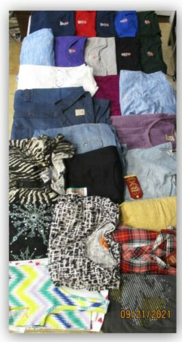 CLOTHING lot 3 for resale Swap meet flea market 100 WOMENS SHIRTS EVERYTHING NEW