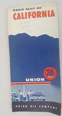 1954 California road   map Union 76 oil  gas