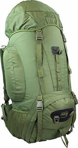 HIGHLANDER TROOPER 85L OG GREEN RUCKSACK/BERGEN MILITARY ARMY BACK PACK CADET TA