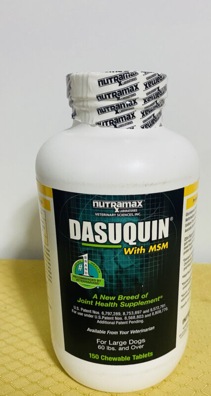 Dasuquin W/MSM~For large dogs 60 Lbs and over. 150 chewable tablets. Exp-01/23