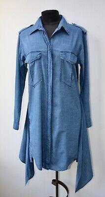 ISABEL MARANT ETOILE Denim Knee Length Shirt Dress, UK 6 US 2 EU 34 (But big)