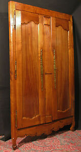 Ancienne portes d 39 armoire bretonne avec bati en merisier fa ade placard - Armoire bretonne ancienne ...