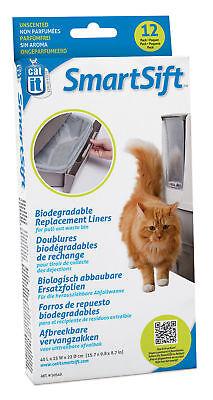 Folie für die Abfallwanne, Smart Sift Katzentoilette, 12er Pack