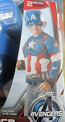 Captain America Age of Ultron Muscle Costume Marvel Comics Size Small 4-6 - Captain America Ultron Kostüm
