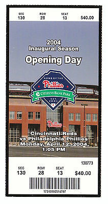 Phillies First Game Citizens Bank Park Opening Day 2004 Inaugural Season Ticket