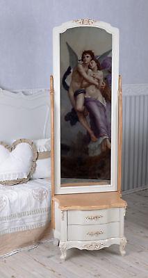 Espejo de Pie Vintage Espejo Toilettenspiegel Shabby Chic Armario