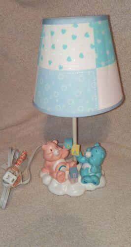 Vintage TCFC Care Bears Baby Nursery Lamp with Shade