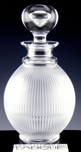 "Lalique France Crystal #1537100 LANGEAIS DECANTER WITH STOPPER 9-3/4"" Unused"
