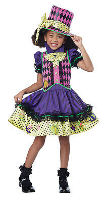 Child Deluxe Mad Hatter-ess Girls Costume - Childs Mad Hatter Kostüme