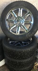 4 Nokian Winter Studded 275/55R20 tires on 6x139.7mm rims