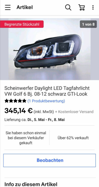 Golf VI LED Scheinwerfer