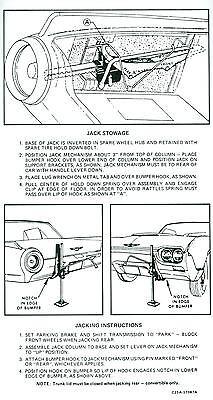 1962 Ford Thunderbird Jack Instruction Decal