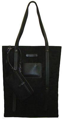 Microfiber Laptop Tote Bag - SHERPANI Ethos Hadley Shoulder/Laptop Tote Bag/Purse in Onyx Black ~ NWT!