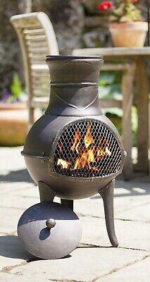 La Hacienda Clifton Chiminea 🔥🔥 Log Burner Chimney Patio Heater Fire Pit 🔥🔥