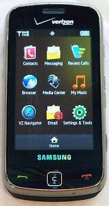 Samsung Rogue SCH-U960 Black Verizon Wireless Touchscreen Cell Phone Qwerty Cam