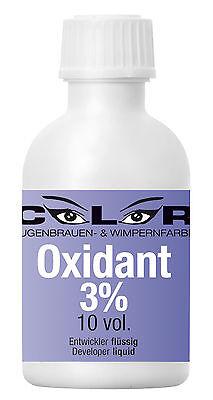 Entwickler 3% flüssig Augenbrauenfarbe Wimpernfarbe COLOR  (€7,00/100ml)