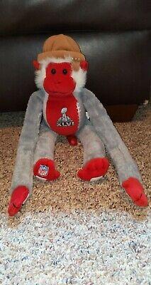 NFL 2012 Super Bowl XLVI Indianapolis Monkey Stuffed Plush Animal Toy 19