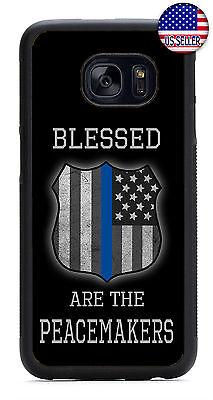 USA Flag Police Cops Slim Rubber Case For Samsung Galaxy S10e S10+ S9 Plus S8 - Cops Plus