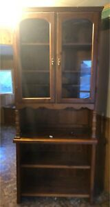Solid wood dining room hutch