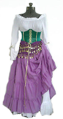 Esmeralda Costume Hunchback of Notre Dame Cosplay Gypsy Halloween S M L XL USA