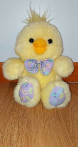"Vintage Cuddle Wit Easter Chicken Stuffed Plush Animal Toy 13"" Easter Eggs Chick"