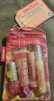 Smackers Sweet Treats lip & Nail Collection~4 piece set in a Cute zip bag