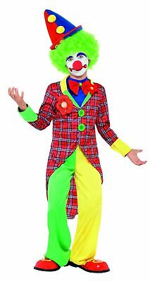 Boys Girls Clown Costume Kids School Book Week Fancy Dress Circus Outfit Comedy