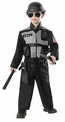 S.W.A.T. Team Uniform Jumpsuit Costume Police Officer Child Boys Girls - Girl Swat Team Costume