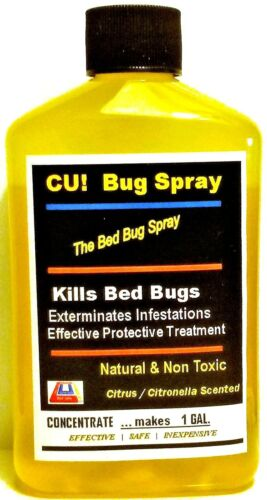 Say Bye-Bye to Bed Bugs SAFELY EcoGreen Spray  CUbugspray  *CONC. makes ONE GAL.