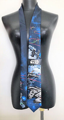 STAR WARS Death Star Battle Necktie Falcon X Wing Tie Fighter Rare Collectible