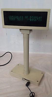 Partner Tech Cd-5220 Series Cash Register Customer Pole Display Screen 12v