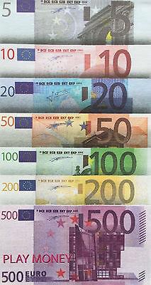 73 Scheine SPIELGELD Play Money EURO EUROscheine Geld Geldscheine für Kaufladen