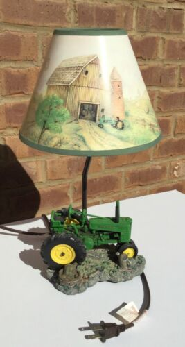 John Deere Tractor Lamp with Shade