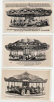 bdc972718489a0 RPPCs CW Parker Amusement Co Advertising Real Photo 1920 Carousel  Leavenworth KS