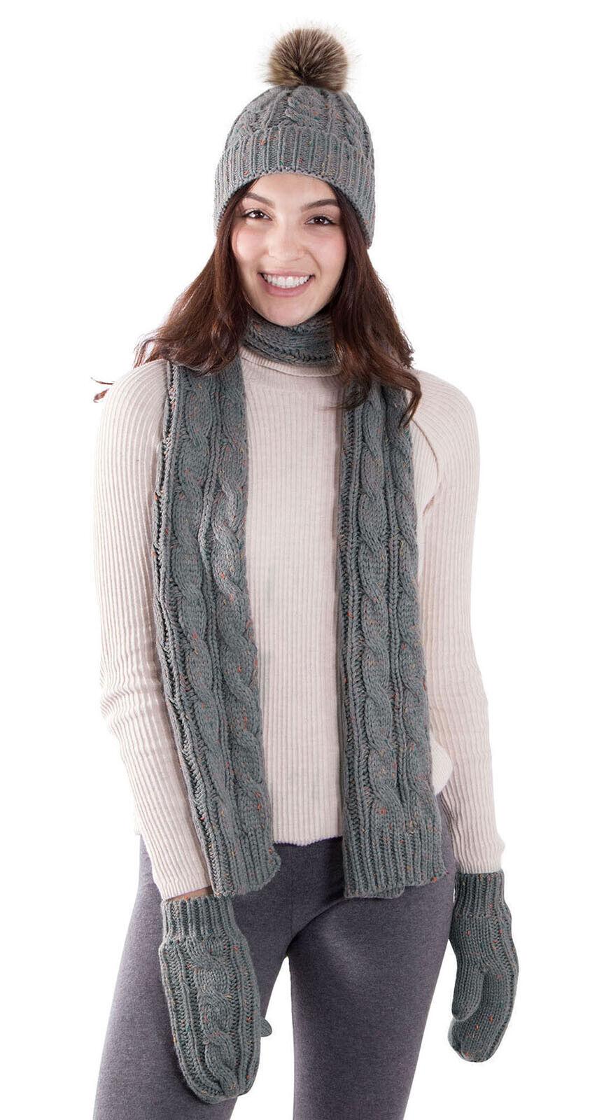 Adult Women Men Warm Set Winter Set Beanie Hat Cap Scarf Glo