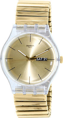 Swatch Men's Originals SUOK702A Gold Plastic Swiss Quartz Fashion Watch