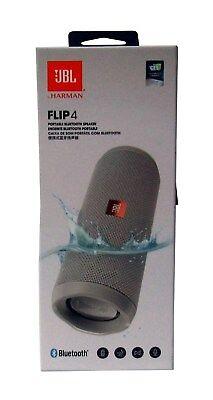 JBL Flip 4 Waterproof Portable Bluetooth Speaker Black - Sealed NEW *FLIP4GRY