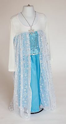 Elsa Frozen Themed Costume Dress w/Pendant 4 sizes available - Halloween costume