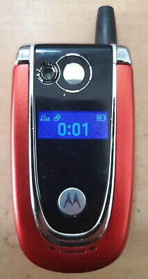 VERY RARE MOTOROLA V600i FLIP MOBILE PHONE-UNLOCKED WITH NEW CHARGAR & WARRANTY